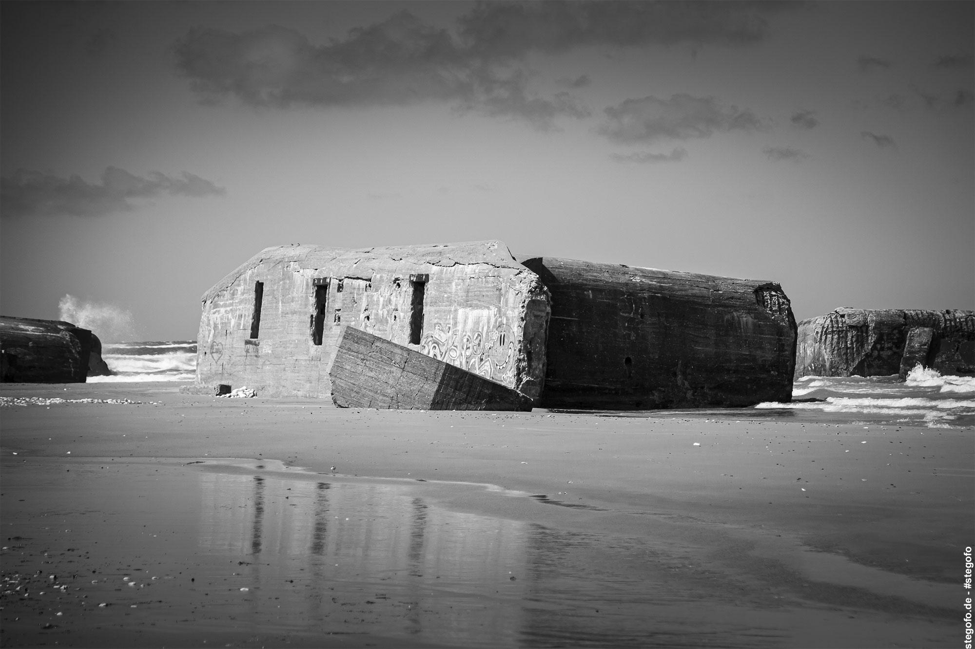 Die zerstörten Bunker