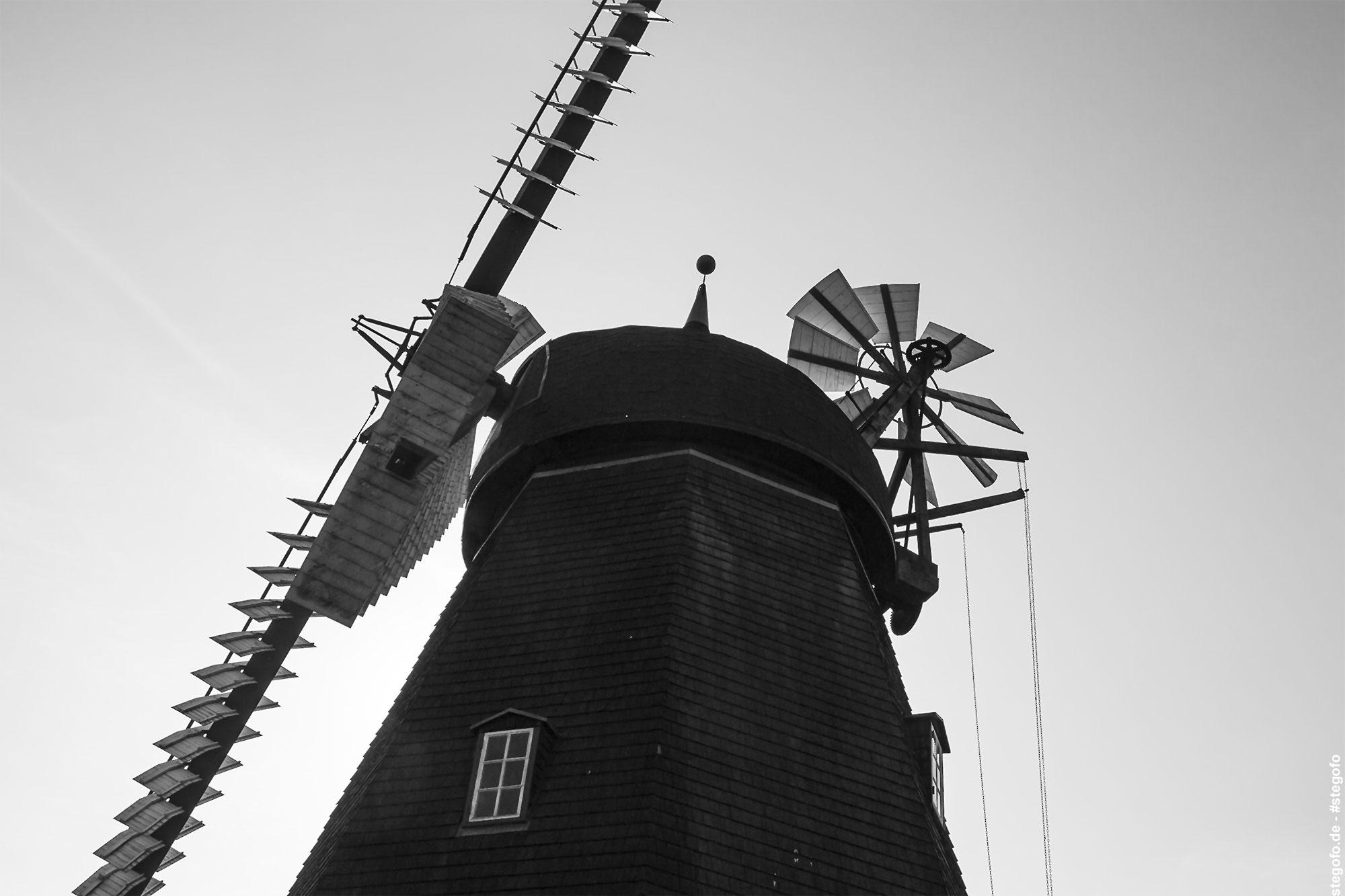 Die Windmühle im Gegenlicht