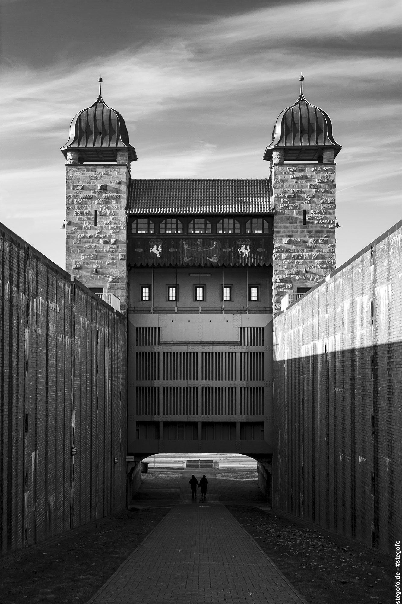 Die alte Schachtschleuse in Henrichenburg